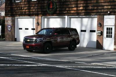 Haworth Fire Dept Chief's SUV