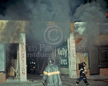 October 1986 - 2 Alarms transmitted for a fire in an autobody shop on Walk Hill St at Blue Hill Avenue (Mattapan).