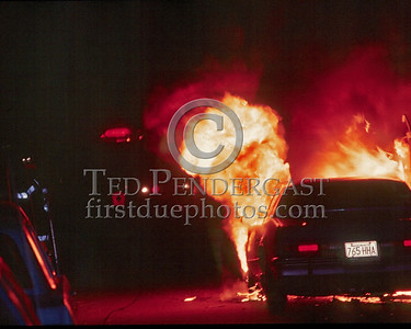 April 11,1986 - A car fire on O'Connor Way in South Boston.