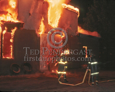 May 24,1986 - 3 Alarms Box 3757 for a large commercial building used to house construction equipment at the end of Glenwood Avenue off Hyde Park Avenue (Hyde Park).