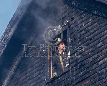 SOMERVILLE, Mass. - December 1986 - 3 Alarms struck for a fire in a house under renovation on Linden Avenue