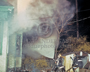 LYNN, Mass. - April 18,1986 - 2 Alarms transmitted for this vacant building off of Commercial St.- Cracking a big line.
