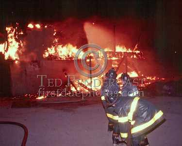 """SALEM, Mass. - March 5,1986 - 3 Alarms at """"The Two Club"""" on Memorial Drive. Burned to the ground in heavy winds right on the ocean."""