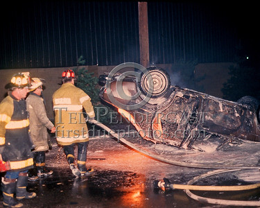 CHELSEA, Mass. - August 1986 - Mv Accident with ruptures gas tank near the Mystic Mall.