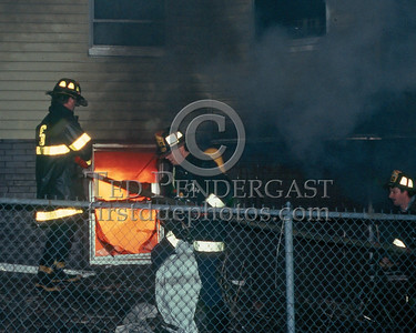 SOMERVILLE, Mass. - Dec.6,1986 - 4 Alarms transmitted for this fire at 202 Highland Avenue.  Auxiliary Firefighters operating on the bravo side.