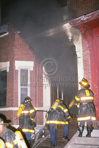 August 15, 1987 - Boston, MA - A quick Working Fire in an occupied apartment building on Pleasant St in Dorchester