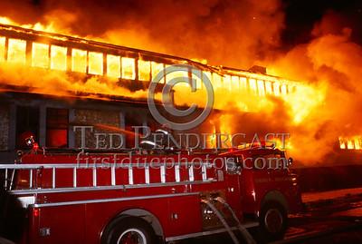 February 15, 1987 - Multiple Alarm Factory Fire - Brockton, Mass. - London Clothing, Main Street