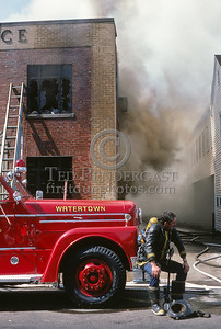 July 19, 1987 - Watertown, MA - 5 Alarms for a fire in the US Post Office on Main St in Watertown Square