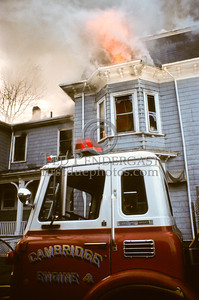 March 28, 1987 - Cambridge, Mass. - 2 Alarms, Massachusetts Avenue corner of Hollis St