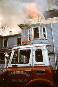 March 28, 1987 - Cambridge, Mass. - 2 Alarms, Massachusetts Avenue corner of Hollis St