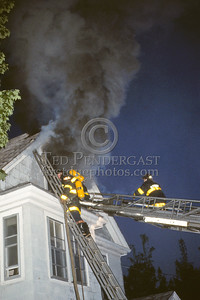 May 16, 1987 - Arlington, Mass. - 2 alarms on Walnut St near Massachusetts Av in the early morning hours.