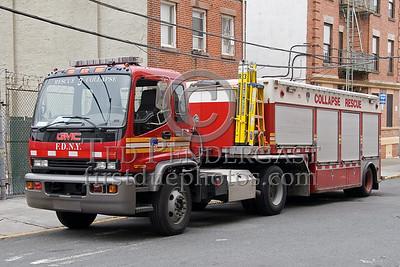 FDNY Rescue Co.3 - Collapse Rescue - GMC T8500 tractor/ 1995 SuperVac Trailer - 2008 FDNY NJ Metro Fire Photographer's Bus Trip