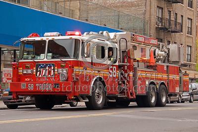 FDNY Tower Ladder 58 - Bronx - 2008 FDNY NJ Metro Fire Photographer's Bus Trip