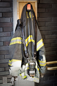 Turnout Gear and Radio - FDNY Firehouse - Rescue Co3 - Big Blue