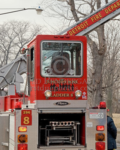 "Detroit Ladder Co. 8 ""The Junction Boys"" - 2001 Pierce 100' tiller - Shop# 296"