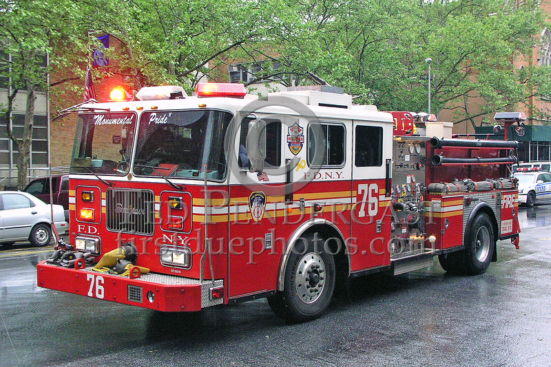"FDNY Engine Co.76 - Manhattan - Upper West Side - ""Monumental Pride"""
