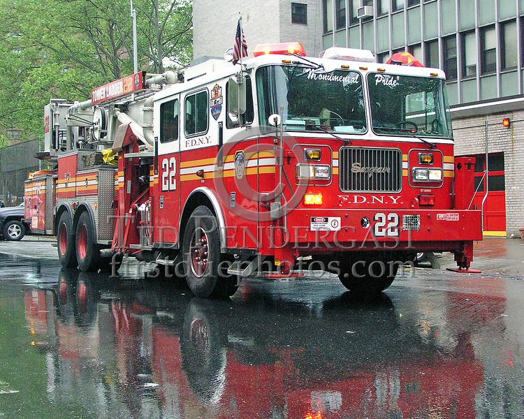 "FDNY Tower Ladder 22 - Manhattan - Upper West Side - ""Monumental Pride"""