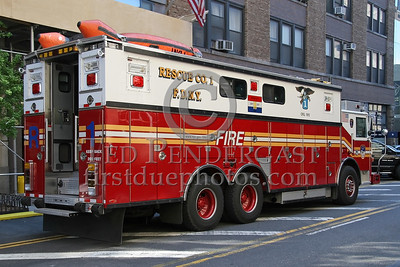 FDNY Rescue Co 1 - 3/4 Officers Side Rear - 530 West 43rd Street - Manhattan, NYC