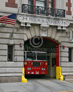 FDNY Ladder Co.34 Firehouse - 513 West 161st. Harlem (Manhattan) New York City