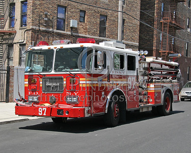 FDNY Engine Co 97 - Operating at a 2nd Alarm Bronx Box 2740, Fire location 1381 Bristow St.
