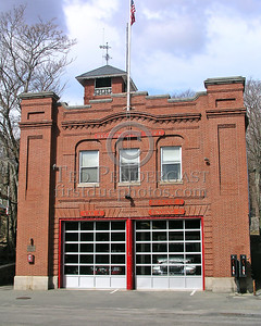 Belmont, MA - Headquarters - Engine 2, Rescue 1 and C-3 (Shift Commander) - 54 Leonard St. - Belmont Center (NOTE: This building was recently sold for commercial development; HQ moved to a new station at 299 Trapelo Rd; Engine 2 relocated with Ladder 1 to new Station 2 at 99 Leonard St.)
