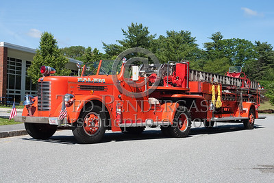 Former Salem MA? Ladder Co.1 - 1951 Pirsch tiller TDA. Photo Taken At The 2009 Lynnfield MA SPAAMFA Muster