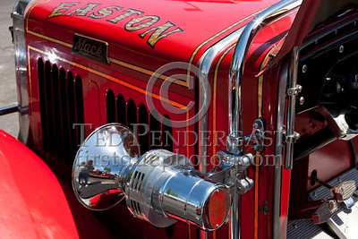 Siren & Driver's Side Details - Former Easton MA Engine Co.2 - 1931 Mack. Photo Taken At The 2009 Lynnfield MA SPAAMFA Muster