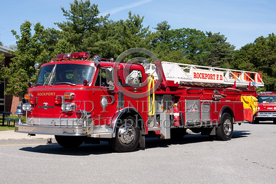 Rockport MA Ladder Co.1 - 1978 American LaFrance 100' midmount aerial. Photo Taken At The 2009 Lynnfield MA SPAAMFA Muster