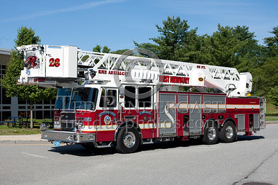 West Newbury MA Tower 28 - 2009 KME 95' tower. Photo Taken At The 2009 Lynnfield MA SPAAMFA Muster