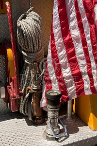 Flag, Rope & Nozzle On Tailboard - Photo Taken At The 2009 Lynnfield MA SPAAMFA Muster