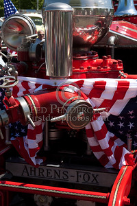 Flag-Draped Pump - Former Concord NH Engine Co.2 - 1929 Ahrens Fox 750gpm. Photo Taken At The 2009 Lynnfield MA SPAAMFA Muster