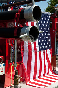 Flag & Tailboard - Former Easton MA Engine Co.2 - 1931 Mack. Photo Taken At The 2009 Lynnfield MA SPAAMFA Muster
