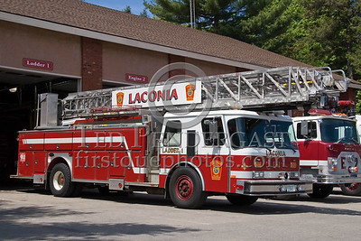 Laconia,NH 13-Ladder-1 - 1989 Emergency One 110' rearmounted aerial - Box 52 Association Bus Trip to Southern NH with visits to the NH State Fire Academy in Concord NH and the Laconia NH Fire Dept.