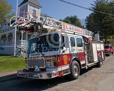 Laconia,NH 13-Ladder-2, 1998 American LaFrance 75ft rearmount aerial - Box 52 Association Bus Trip to Southern NH with visits to the NH State Fire Academy in Concord NH and the Laconia NH Fire Dept.