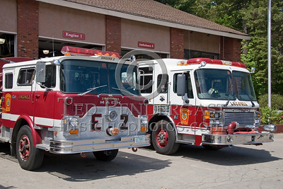 Laconia,NH Central Station - Engines 1 and 2 On The Ramp - Box 52 Association Bus Trip to Southern NH with visits to the NH State Fire Academy in Concord NH and the Laconia NH Fire Dept.