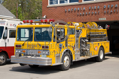 """Laconia,NH 13-M-3, 1987 Ranger 2000gpm/500gal w/2000ft of 4"""" supply line - Box 52 Association Bus Trip to Southern NH with visits to the NH State Fire Academy in Concord NH and the Laconia NH Fire Dept."""