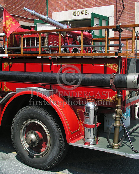 New Bedford, MA Former Engine Co. 4 1928 Ahrens Fox Pumper currently assigned to the New Bedford Fire Museum