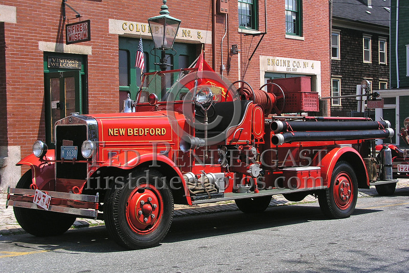 New Bedford,MA 1934 Ahrens Fox Pumper currently assigned to the New Bedford Fire Museum