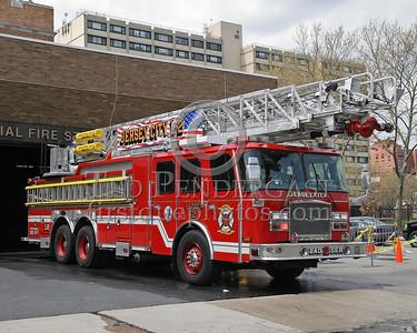 Jersey City NJ Ladder Co 2 - Memorial Station on Marin Blvd