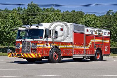 """Lincoln, RI - Albion Fire Dept - Squad Co 21 """"Squadzilla"""" - IFBA National Convention (NEFCON '07) - Boston to Providence Bus Trip"""