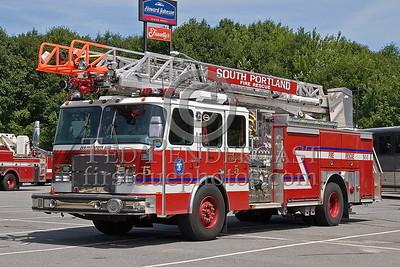 South Portland, Maine - Engine Co 5 - NEFCON'07 Int'l Fire Buff Assoc. Bus Trip To Portland Maine