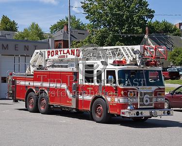 Portland, Maine - Ladder Co 6 - NEFCON'07 Int'l Fire Buff Assoc. Bus Trip To Portland Maine