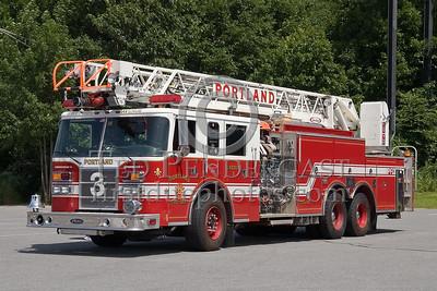 Portland, Maine - Ladder Co 3 - 'Stevens Avenue' - NEFCON'07 Int'l Fire Buff Assoc. Bus Trip To Portland Maine