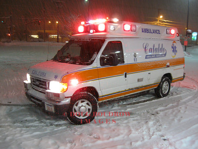 Revere, MA - A23 during a busy evening shift in a snowstorm, 1-18-09.