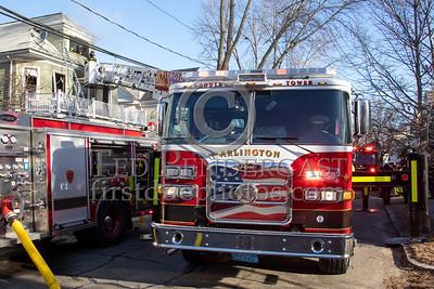 Arlington MA - 2 Alarms on Cleveland St