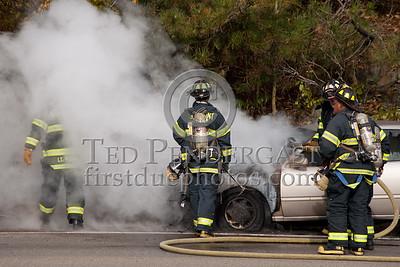 Car Fire On Rte.2 WB - Arlington,MA