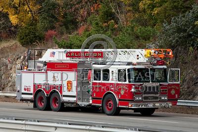 Arlington,MA - Ladder Co.1 - Car Fire on Rte.2 WB