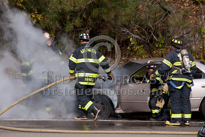 Car Fire On Rte.2 WB - Arlington,MA