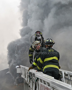 Heavy smoke from the vent hole