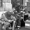"""Bayonne,NJ - Ladder 3's crew secures """"the can"""""""